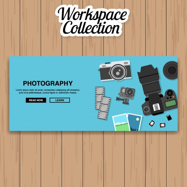 Photography Banner Design Vector