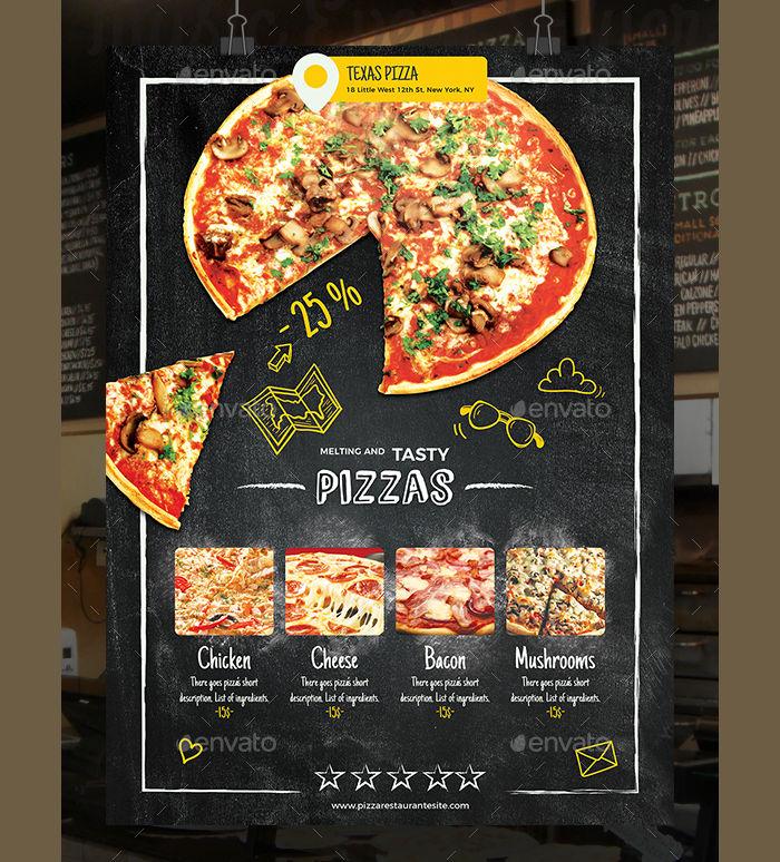 Pizza Restaurant Flyer Poster