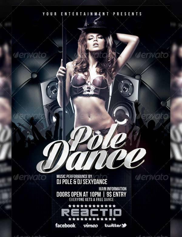 Pole Dance Party Flyer