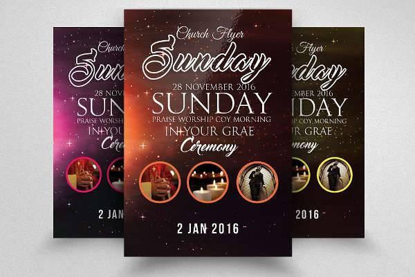 Pray Church Service Flyer