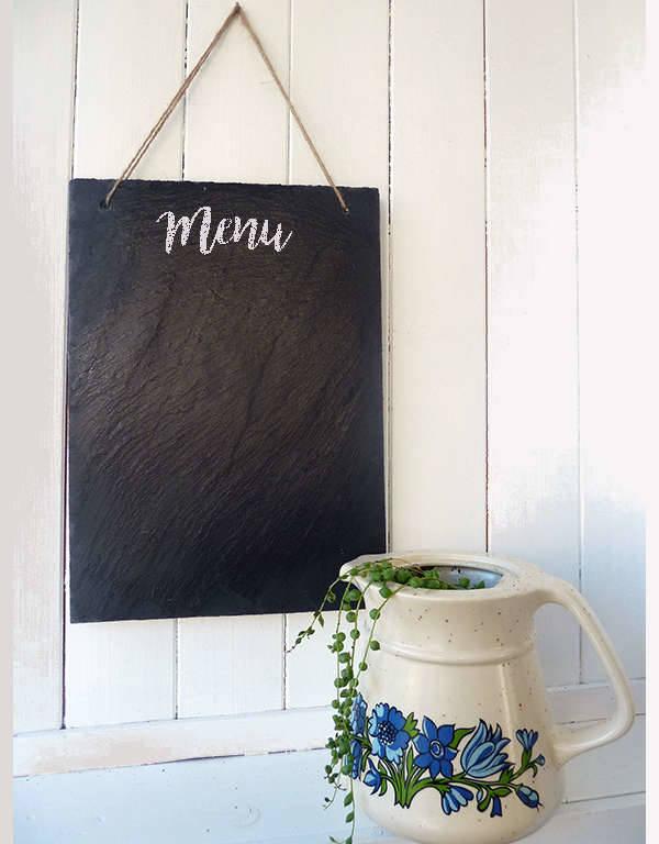 Printable Blank Chalkboard Menu