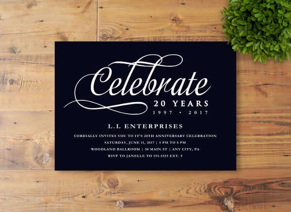 Printable Business Event Invitation  Business Event Invitation
