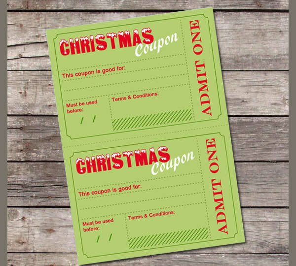 Printable Holiday Voucher
