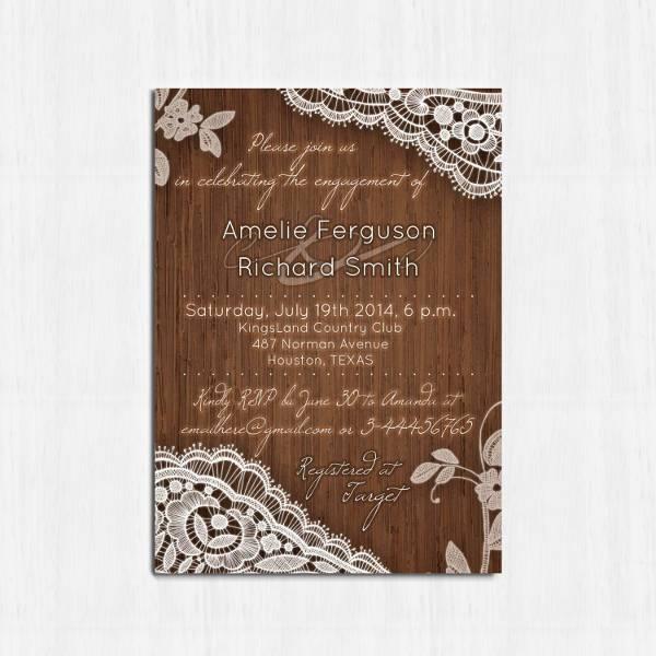 Printable Rustic Engagement Invitation