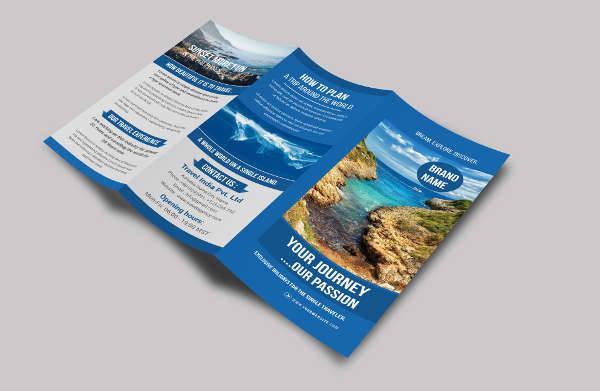 Printable Trifold Travel Brochure