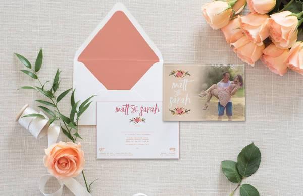 Printable Vintage Engagement Invitation