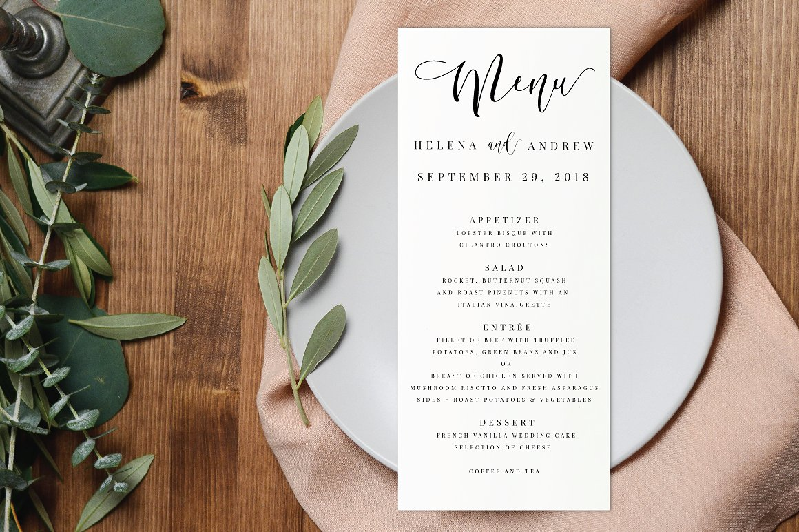 15 Wedding Menu Card Designs Design Trends Premium