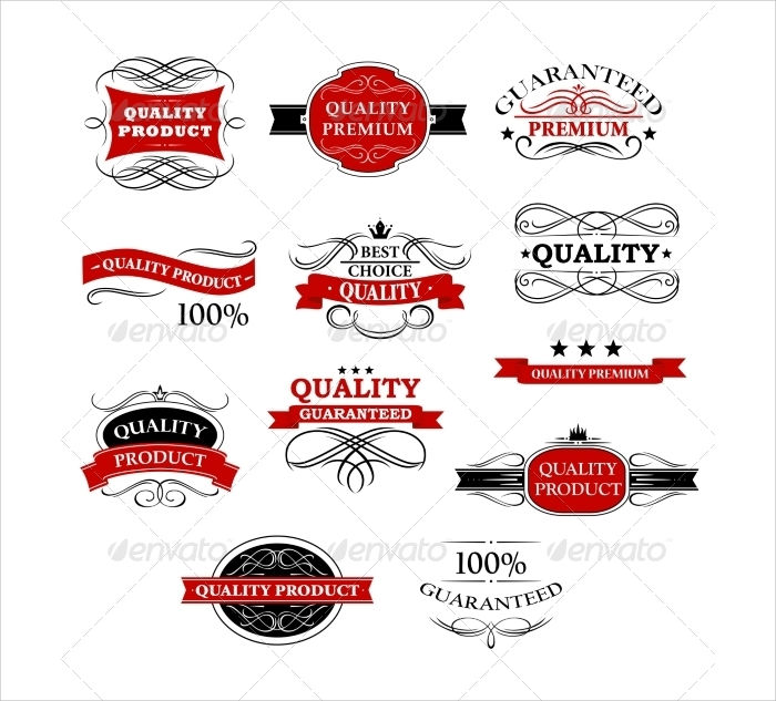 product banners labels