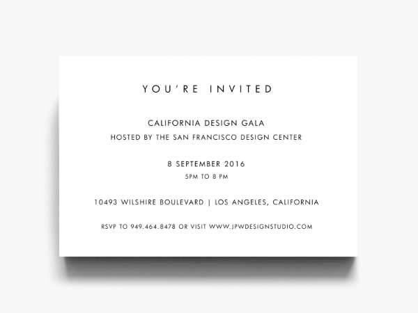 Professional Editable Business Invitation