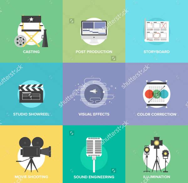 professional flat icons
