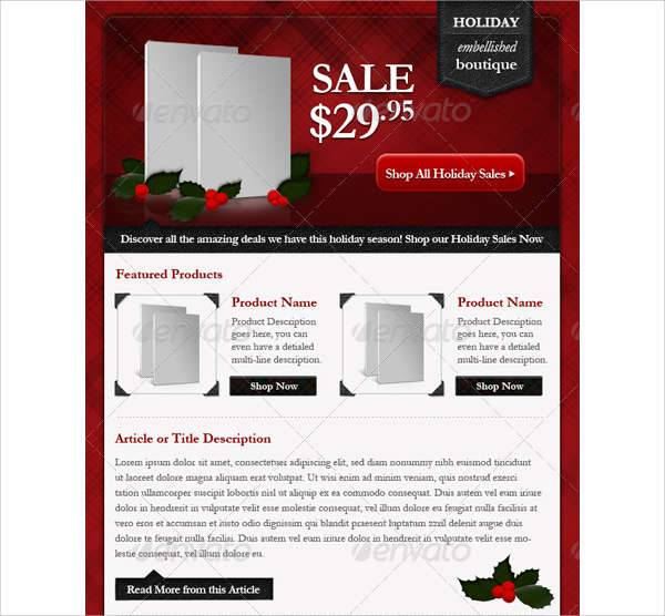 Professional Holiday E-commerce Email