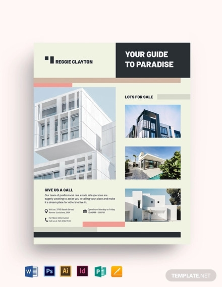 professional real estate broker flyer template