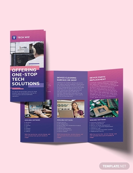 professional services tri fold brochure template