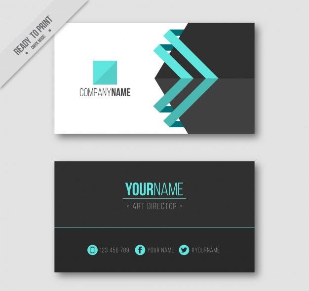 professional visiting card