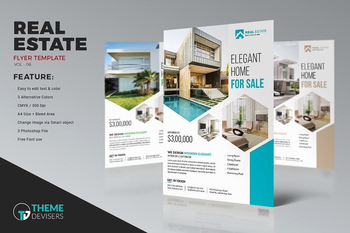 Real Estate Flyers Design Kleobeachfixco - Real estate advertisement template