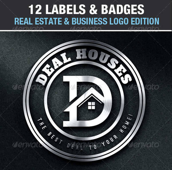 real estate business labels badges logos