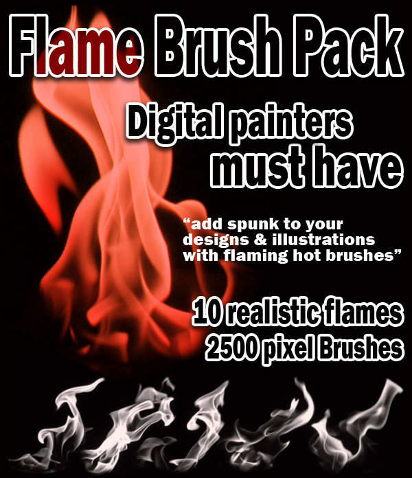 Realistic Flame Brushes