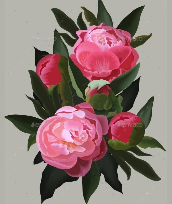 realistic flower design