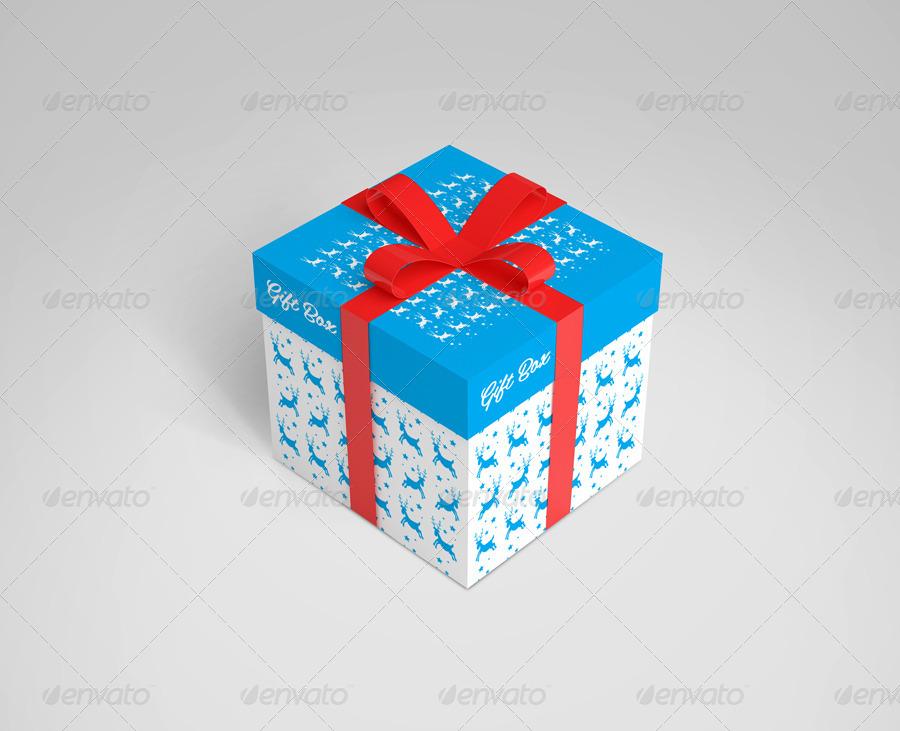 realistic gift box design