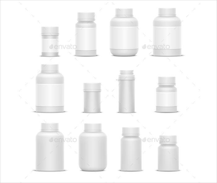 realistic plastic medicine bottles