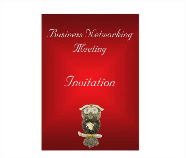 Red Business Meeting Invitation