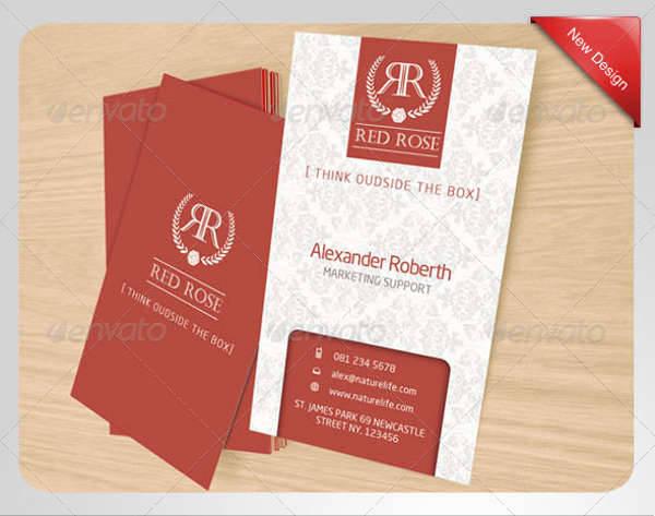 Red Rose Name Card