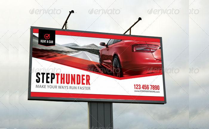 renta a car outdoor banner