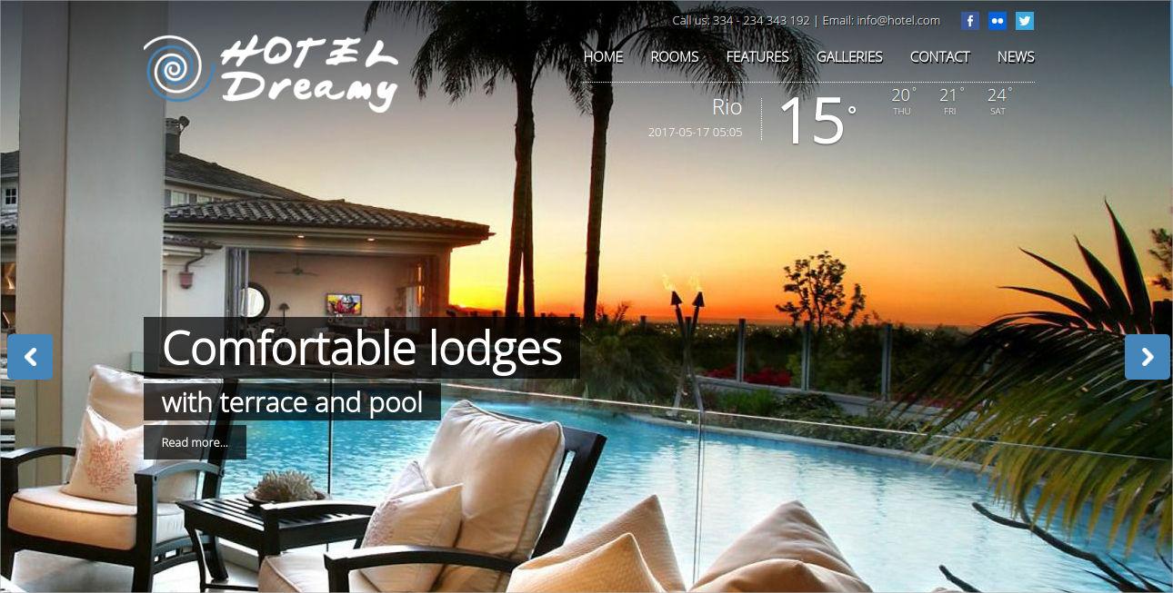 responsive hotel and resort theme