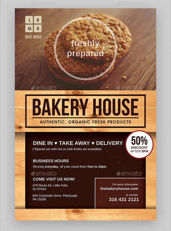 24  bakery flyers templates