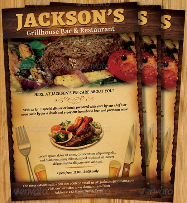 restaurant bar magazine ad