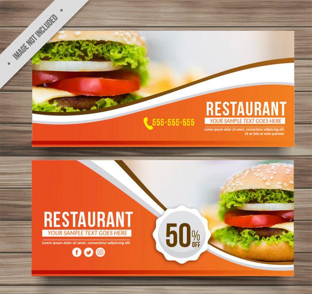 restaurant food banner ads