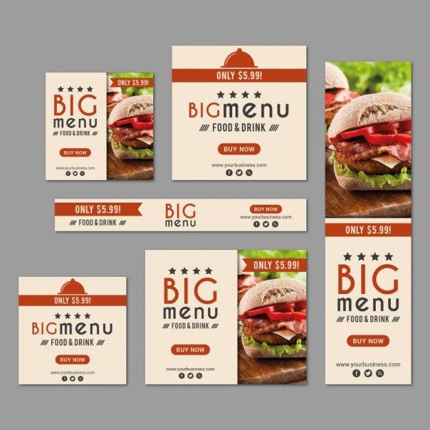 Food banner designs design trends premium psd