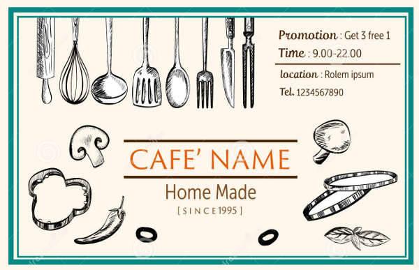 Restaurant Name Card