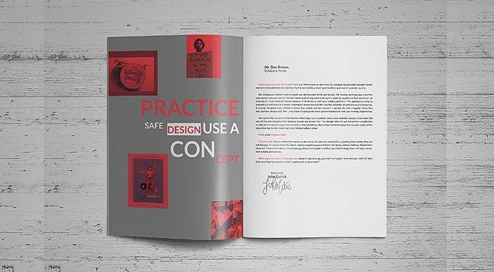 resume booklet design