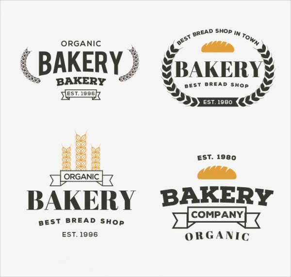 retro bakery company logo