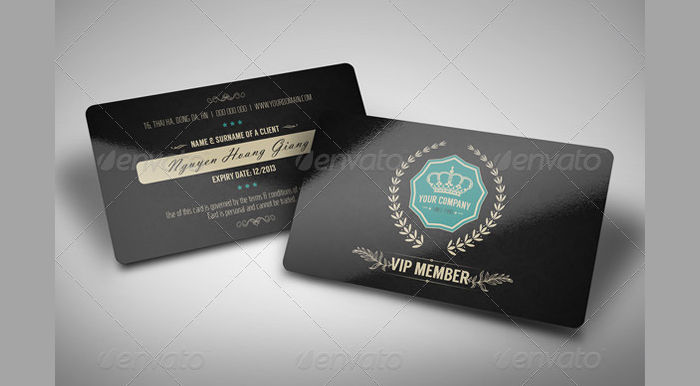 Retro Card Design  Membership Card Design