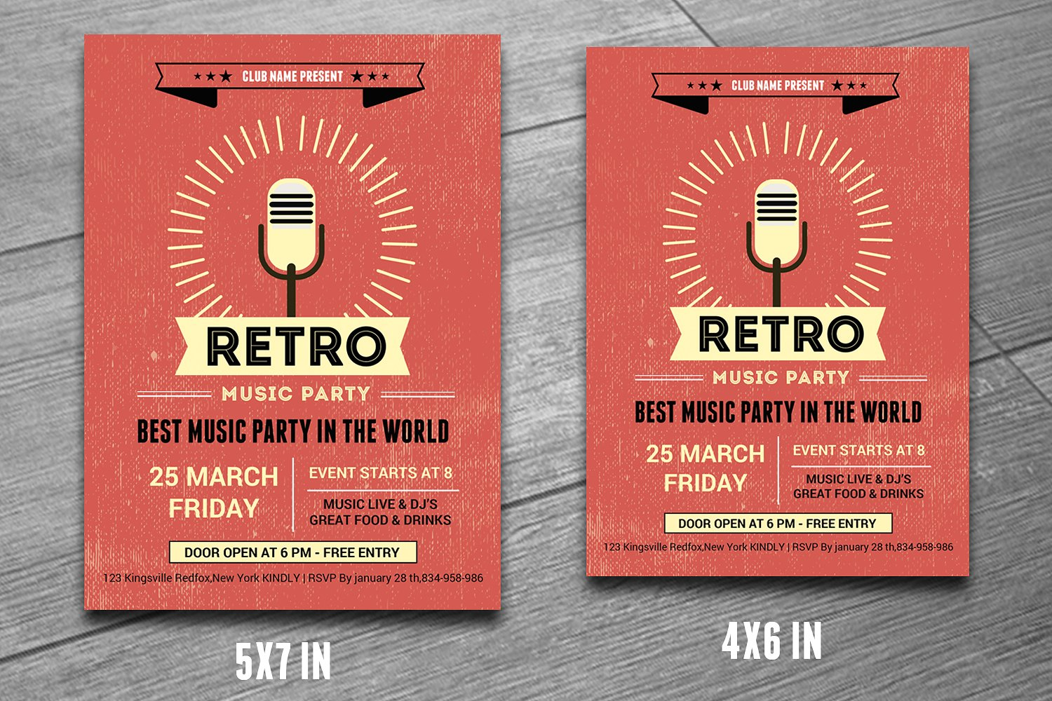 21  retro event flyers
