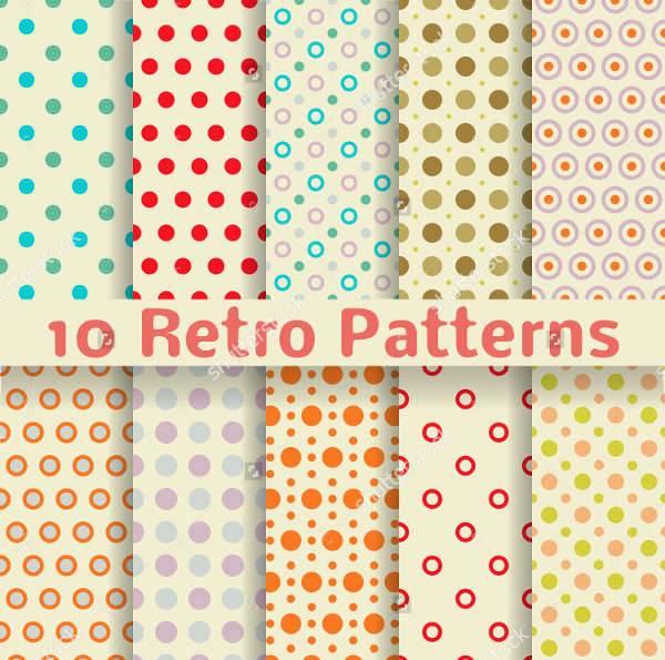 retro dots pattern set patterns