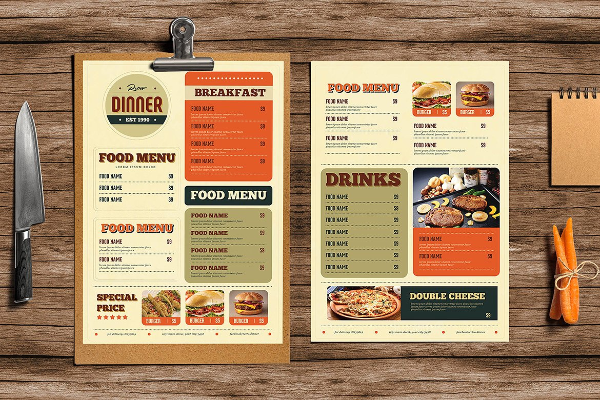 Retro Food Menu Flyer
