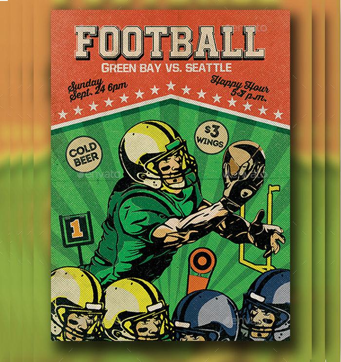 Retro Football Flyer