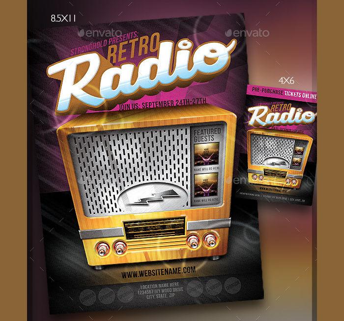 Retro Radio Event Flyer Template
