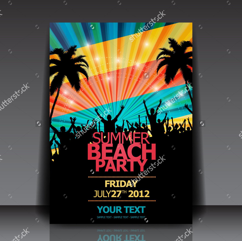 Retro Summer Beach Flyer