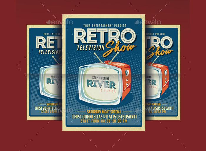 Retro TV Show Flyer Poster
