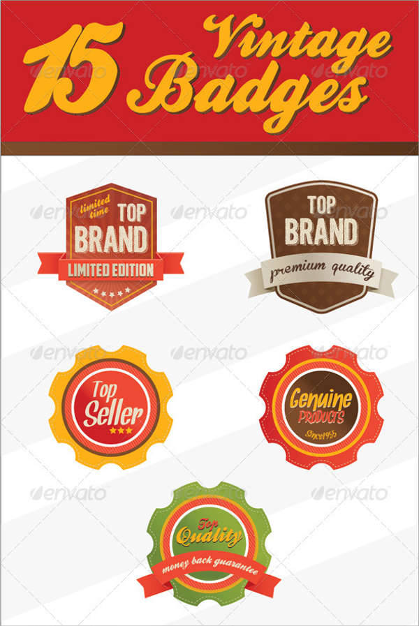 retro vintage badges logo