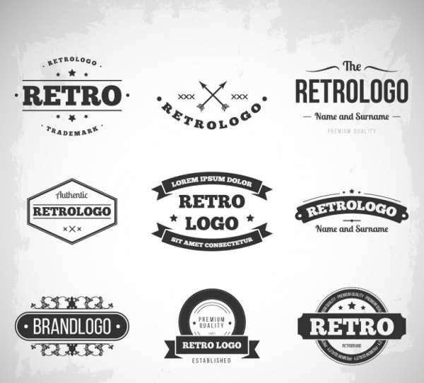 retro vintage logo designs