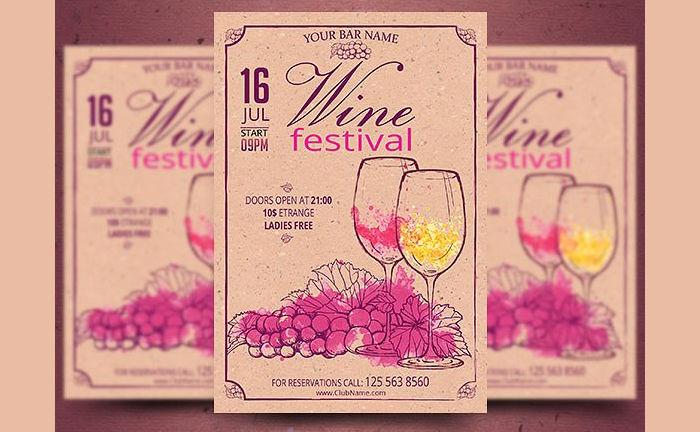Retro Wine Festival Flyer