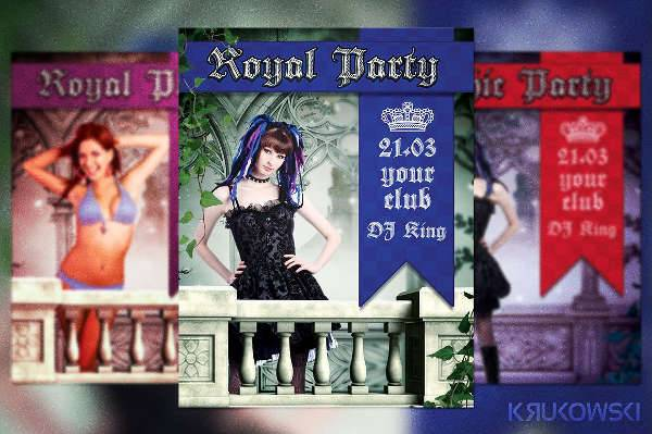 Royal Party Flyer Design