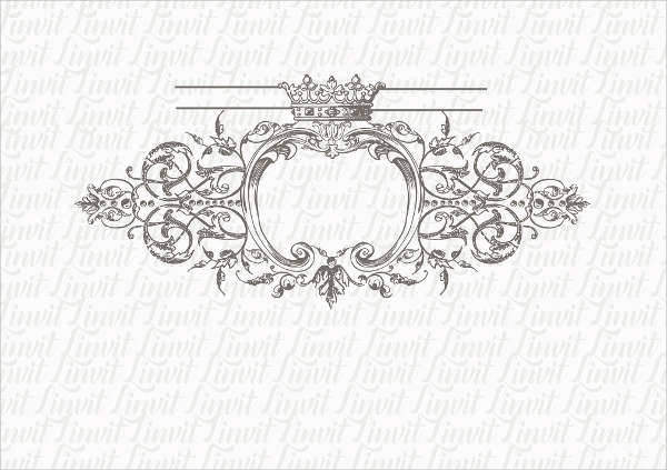 Royal Vintage Wedding Logo
