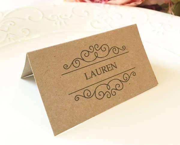 Rustic Name Card