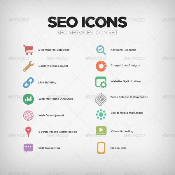SEO Company Services Icons